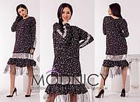 Эффектное платье Pernilla с изумительной евросеткой по низу платья (133)3689