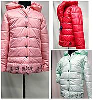 """Куртка детская """"Маус"""" разные цвета для девочек от 2 до 7лет( 98-128 рост)"""