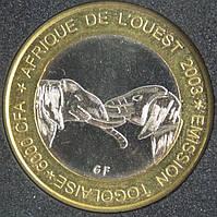 Монета Того 6000 франков 2003 г.