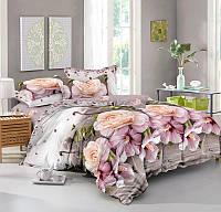 Комплект постельного белья двуспального Евро 200х220 см сатин TM KRISPOL