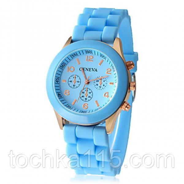 Часы женские Geneva голубой реплика