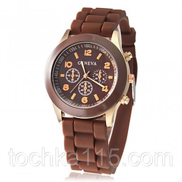 Часы женские Geneva коричневый реплика
