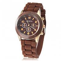 Часы женские Geneva коричневый реплика, фото 1