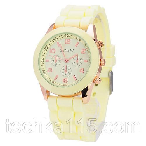 Часы женские Geneva лимонный реплика