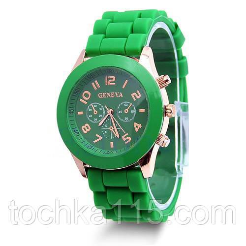 Часы женские Geneva зеленый реплика