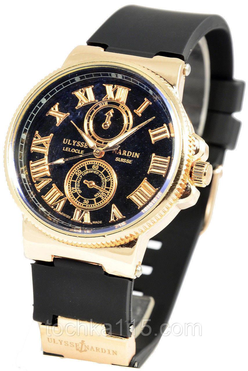Часы женские Ulysse Nardin, женские часы Юлис Нардин черный реплика
