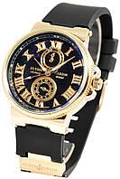 Часы женские Ulysse Nardin, женские часы Юлис Нардин черный реплика, фото 1