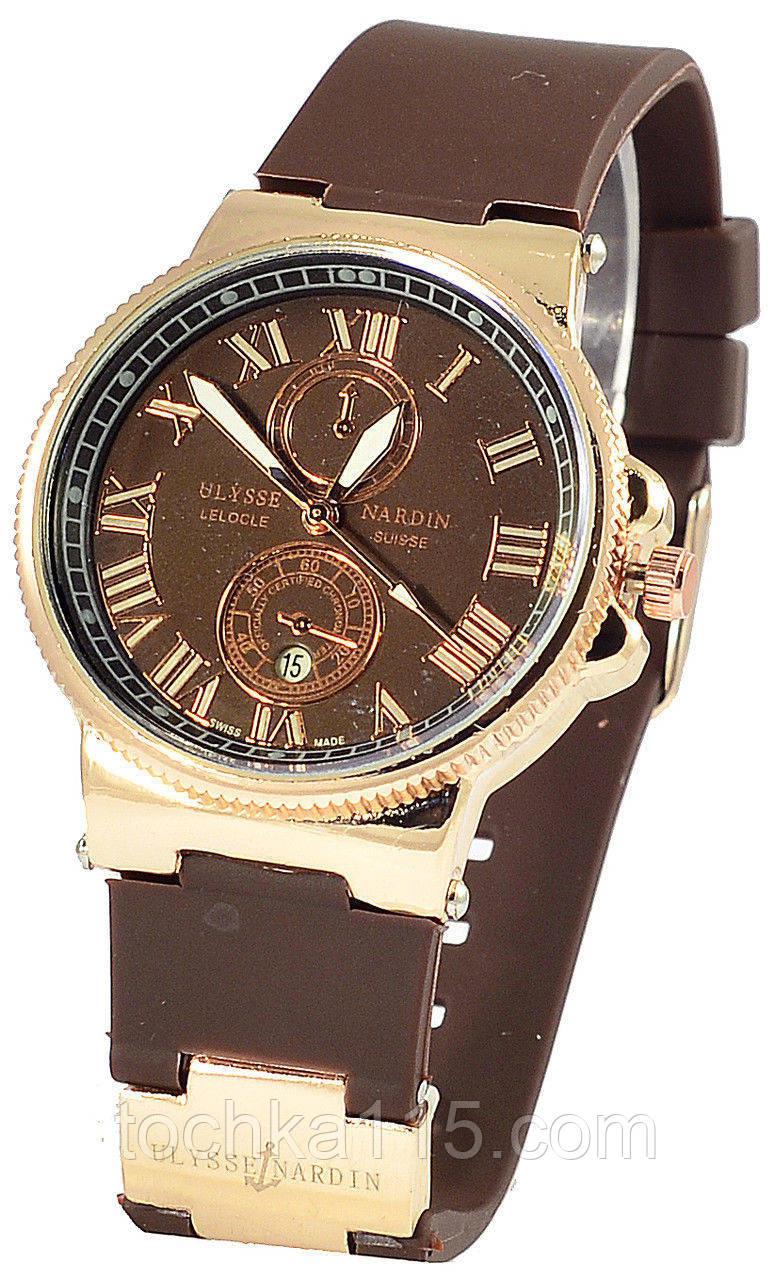 Часы женские Ulysse Nardin, женские часы Улис Нардин коричневый реплика
