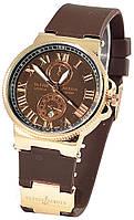 Часы женские Ulysse Nardin, женские часы Улис Нардин коричневый реплика, фото 1
