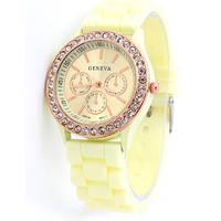 Часы женские Geneva Crystal лимнный реплика, фото 1