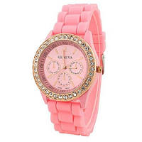 Часы женские Geneva Crystal розовый реплика