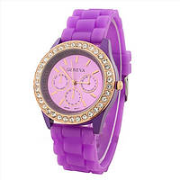 Часы женские Geneva Crystal фиолетовый реплика, фото 1