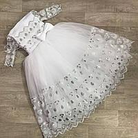 Детское бальное нарядное платье белое