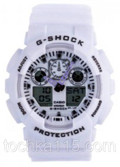 Casio g-shock ga-100 белый реплика, фото 1