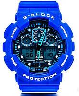 Casio g-shock ga-100 синий реплика, фото 1