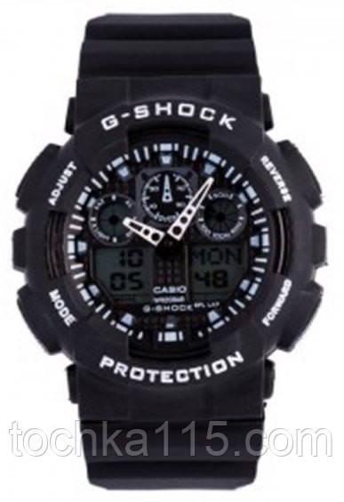 Casio g-shock ga-100 черный/белый реплика