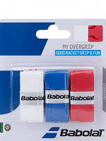 Намотки Babolat  My Overgrip*3 wh/bl/rd
