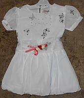 Белое платье для девочки 1-4 года