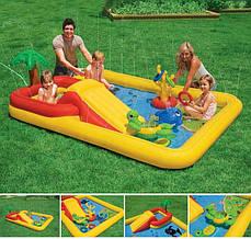 Надувной игровой центр(бассейн) Аквапарк. INTEX 57454 (254-196-79 СМ)