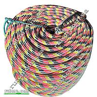 Шнур полипропиленовый фал плетеный Ø14(100метров) с сердечником