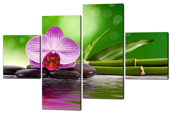 Модульная картина Цветы 166*114 см