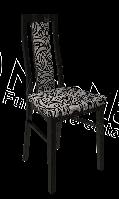 Терра Стул  1000х430х460мм белый глянец + черный мат   Миро-Марк