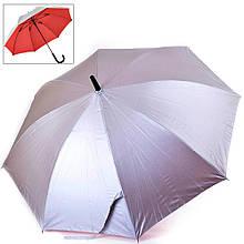 Женский зонт трость полуавтомат FARE FARE7119-silver-red