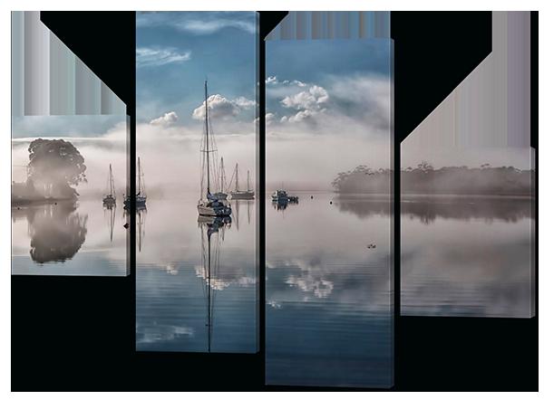 Модульная картина Парусники.Облака