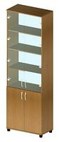 Шкаф файловый со стеклом В-218