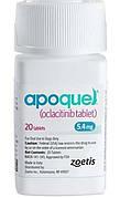 АПОКВЕЛЬ 5,4 мг для лечения дерматитов сопровождающихся зудом у собак, 20 таблеток