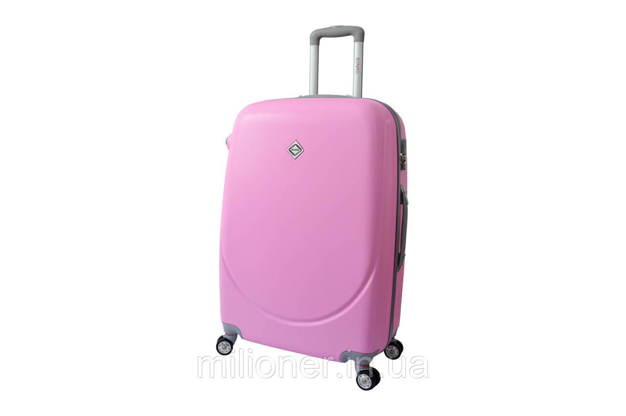 Чемодан Bonro Smile с двойными колесами (средний) розовый