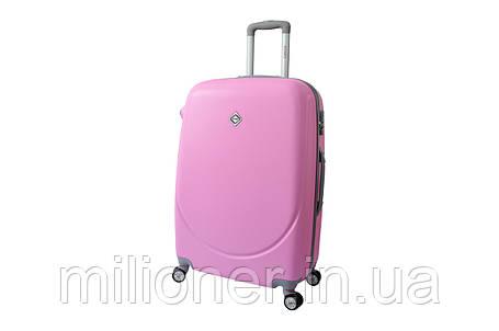Чемодан Bonro Smile с двойными колесами (средний) розовый, фото 2