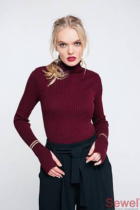 Женский вязаный гольф свитер, фото 2