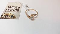 Золотое кольцо с камнями, женское. Вес 1,77 грамм. Размер 18,5.