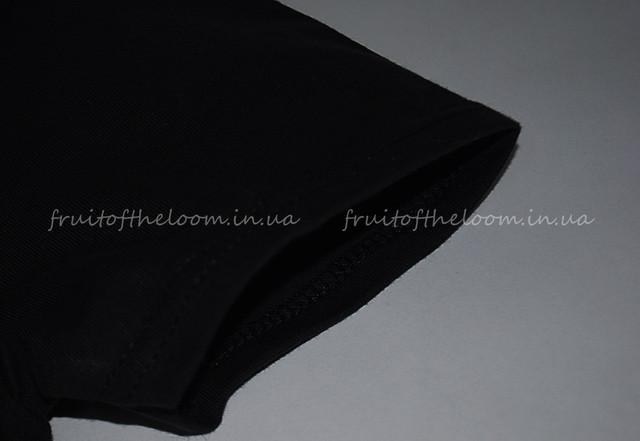 Чёрная премиум  женская футболка