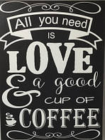 "KHO2035 Раскраска по номерам ""All you need is coffee """
