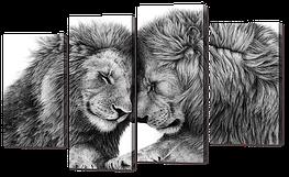"""Модульная картина """"Два льва"""""""