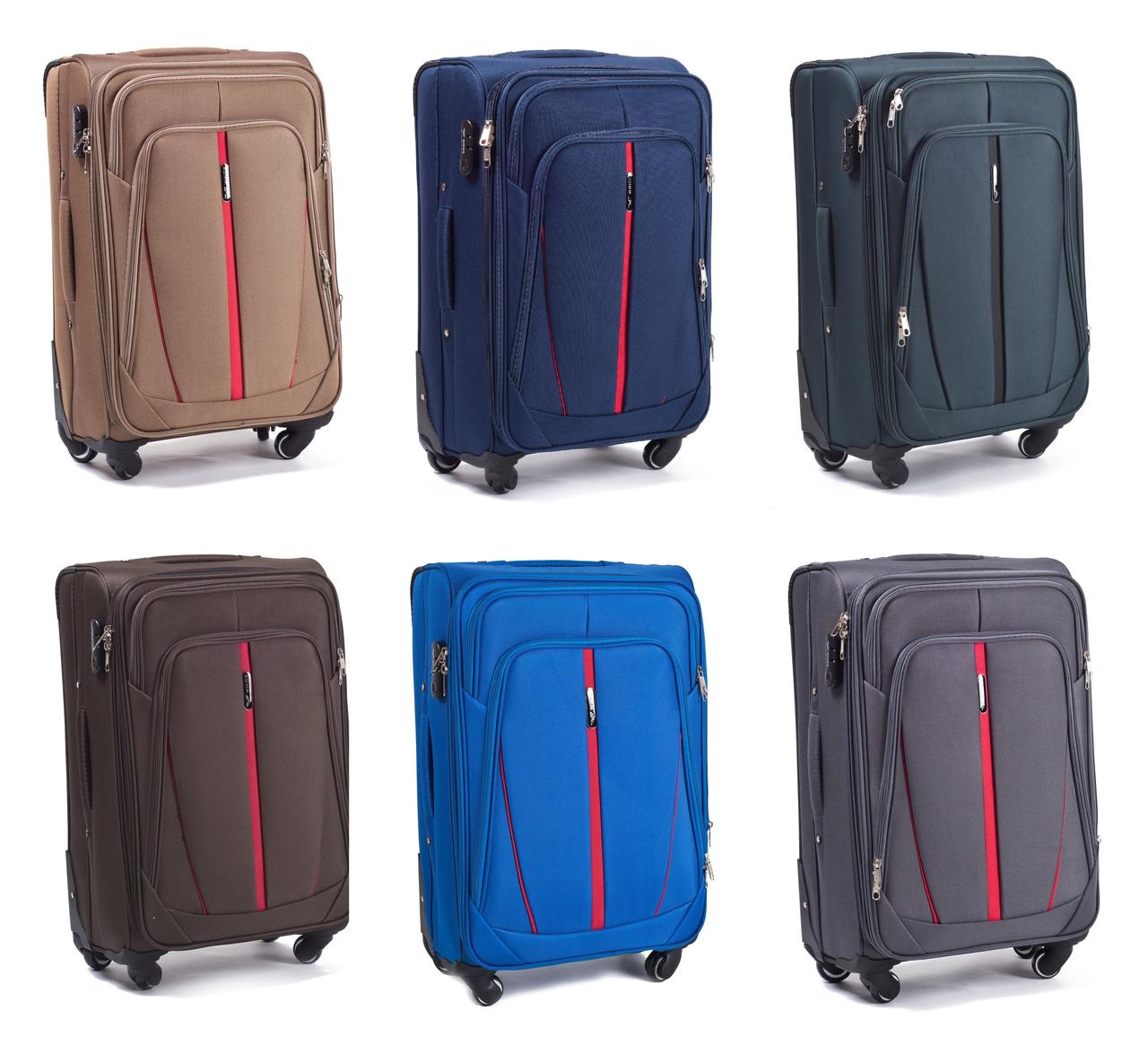 Дорожный чемодан на колесах WINGS 1706 тканевый с выдвижной ручкой  (Средний) - Интернет- 5ba3a83ff85
