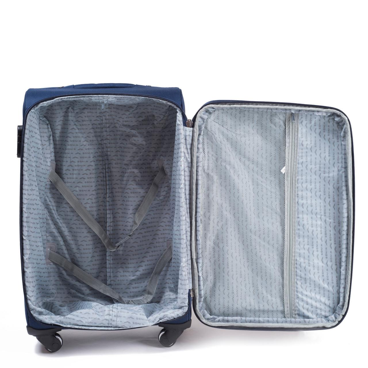 ... Дорожный чемодан на колесах WINGS 1706 тканевый с выдвижной ручкой  (Большой), ... 7300c3b178d