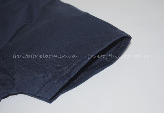 Тёмно-синяя премиум  женская футболка