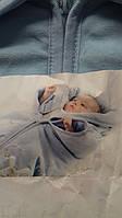 Конверт-одеяло для новорождённого на тонком синтепоне велюровый