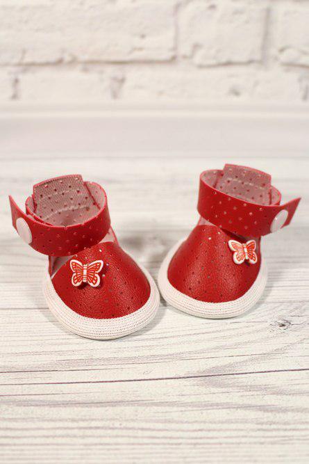 Туфельки красные для куклы Baby Born