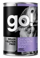 Консервы беззерновые Grain Free Chicken Stew with Turkey + Duck(для взрослых собак) 400 гр