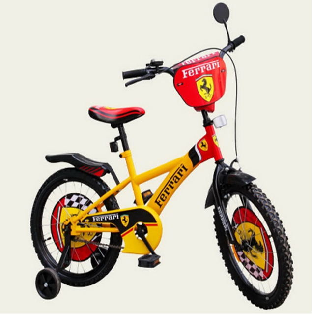 Велосипед двухколёсный детский 16 дюймов Ferrari 111605