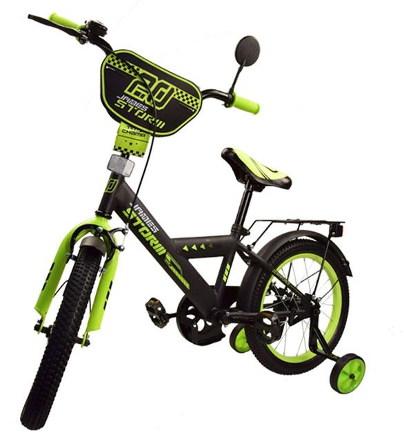 Велосипед двухколесный 16 дюймов Спорт 181642 зеленый