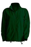 Куртка флисовая мужская в наличие цвет темно зеленый