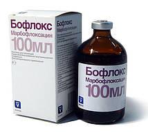 Бофлокс ( марбофлоксацин 100 мг) 100 мл антибиотик для поросят, свиней, телят и коров.