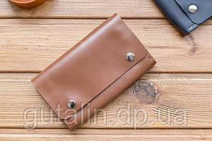 Гаманець ручної роботи з натуральної шкіри art. 3 колір середньо коричневий