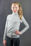 Гольф Many&Many тёплый для девочки-подростка, цвет светло-серый.