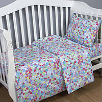 Детское постельное белье в кроватку, Сердечки, поплин 100%хлопок